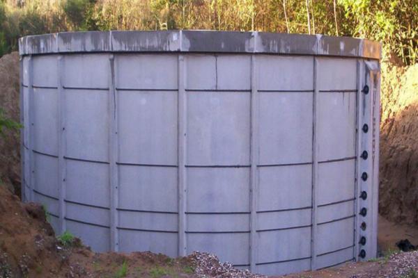 Rentvandstank af beton til renset grundvand