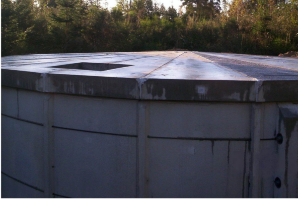 Membran til rentvandstank af beton