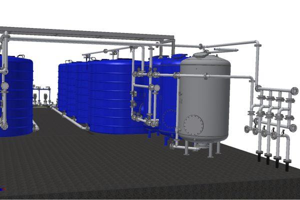 Dimensionering af vandværk i inventor 3D og 2D auto cad