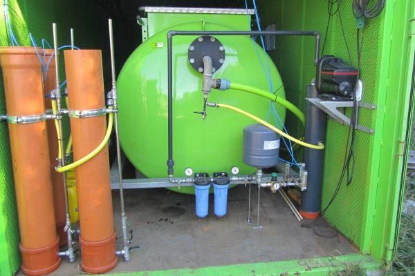 Anlæg til at fjerne Tributyltin og tungmetaller fra grundvandet