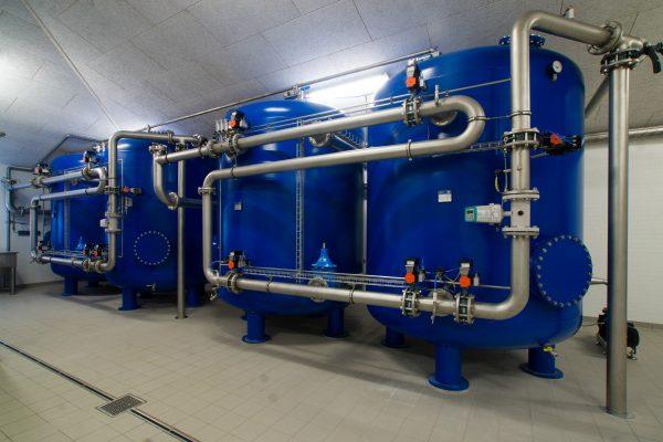 Trykfilter anlæg til rensning af drikkevand