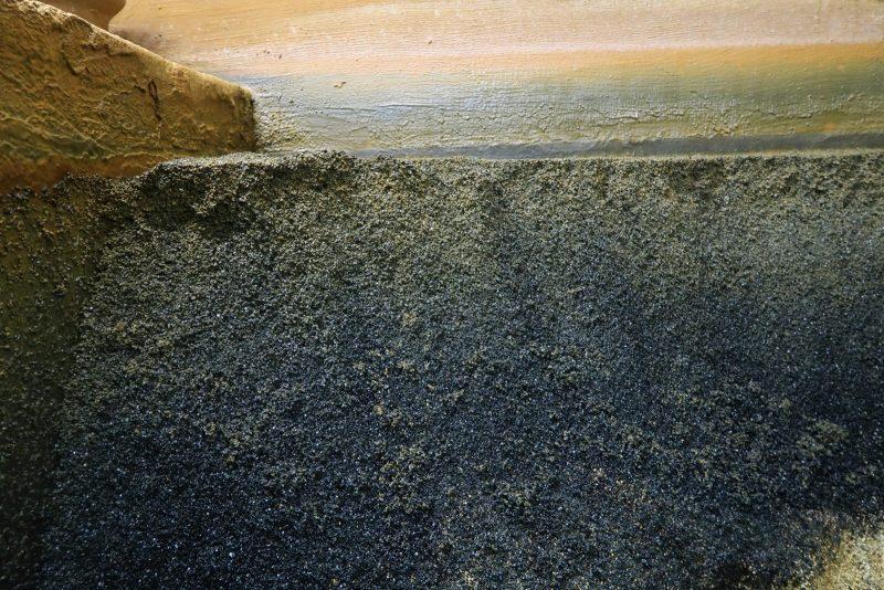 Filtersand opbygning hvor mangan ses